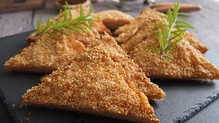 The Crispiest Shrimp Toast You'll Ever Make at Home 脆皮虾吐司 How to Make Prawn Toast • Chinese Recipe