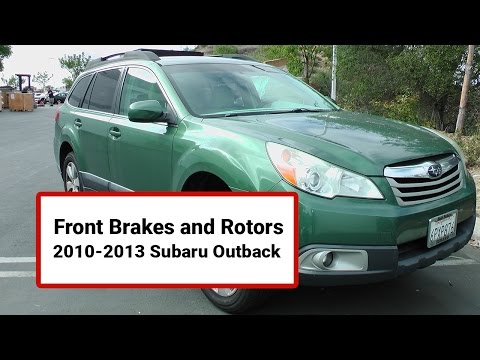 How to Install Front Brakes and Rotors on a 2010-2013 Subaru Outback