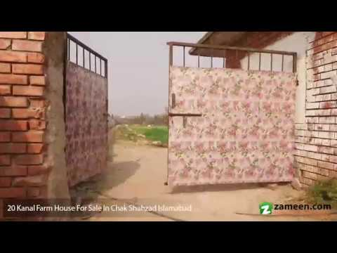 20 KANAL FARM HOUSE FOR SALE IN CHAK SHAHZAD ISLAMABAD
