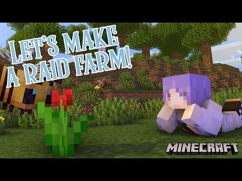 【Minecraft】Let's make a Raid Farm!【#MoonArchitect】