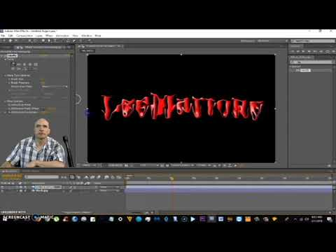How To Do A Melting Text Effect in After Effects