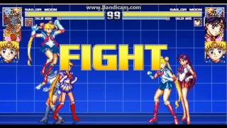sailor moon,sailor moon team arcade mugen.