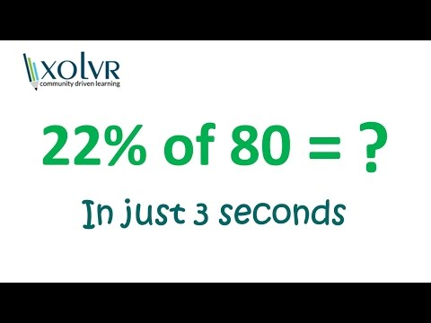 Trick For Solving Percentages In Seconds