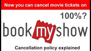 Book my show ticket cancel ? Explained