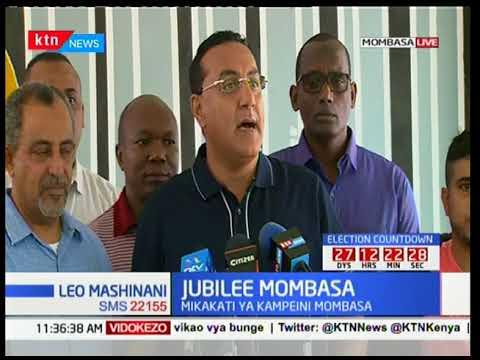 Viongozi wa Jubilee wazungumzia mikakati ya kampeni Mombasa