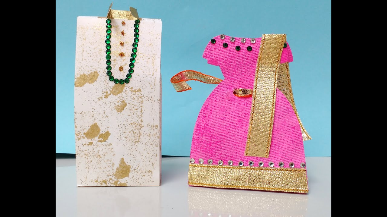 Diy How To Make Paper Indian Bride And Groom Gift Box Youtube