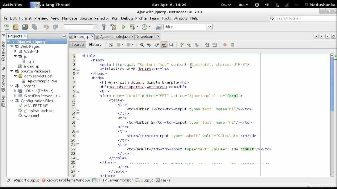 Submitting JSP form data to servlet with Jquery Ajax - YouTube