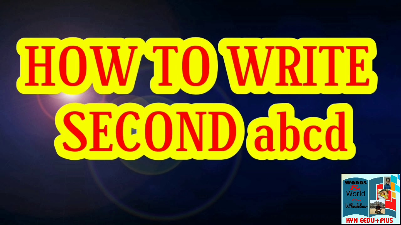 How to write second abcd - YouTube