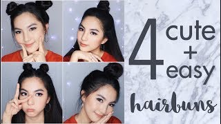 Video 4 Easy and Cute Hair Buns Tutorial for School or Hangout | Tumblr Inspired [ENG Subs] download MP3, 3GP, MP4, WEBM, AVI, FLV Oktober 2018