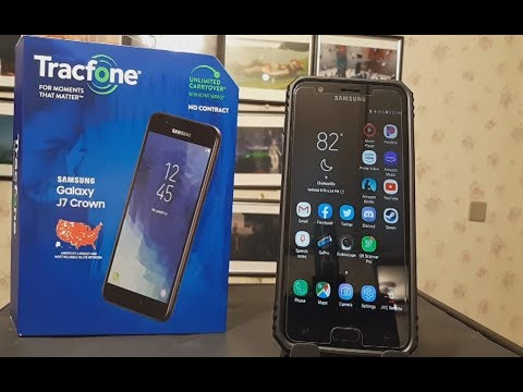 2019 8 26 UnBoxing TracFone Samsung Galaxy J7 Crown 4G LTE Prepaid Smartphone