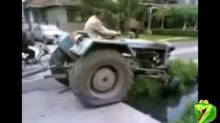Amazing idiots on Tractors! Crashes!