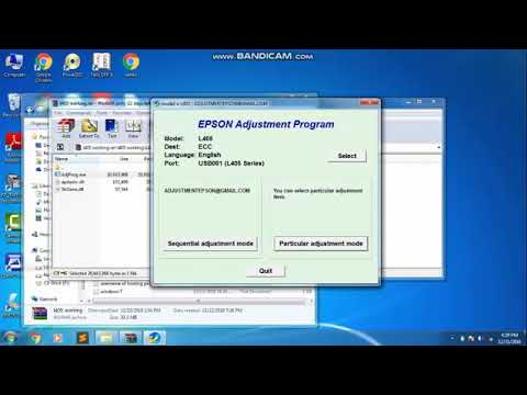 Epson L405 resetter adjustment program free 100% working
