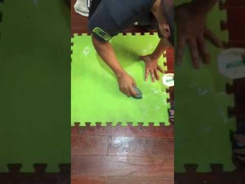 Cómo limpiar foamy, fomy, alfombra de goma - YouTube