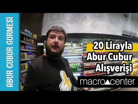 20 Lirayla Abur Cubur Alışverişi @Makro Center | Abur Cubur Gurmesi