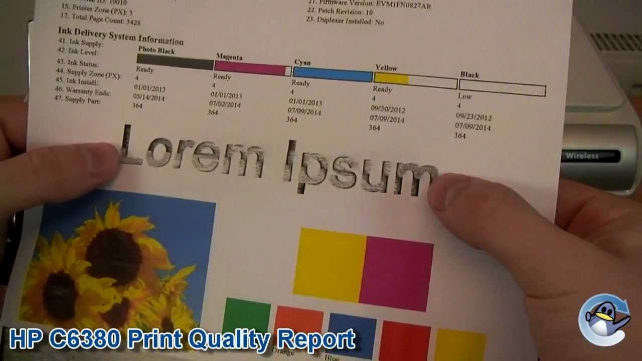 How to do Print Quality Report on HP Photosmart C6380 ...