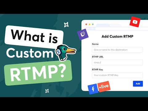 How to Setup Custom RTMP For Live Streaming, the Complete Guide