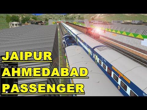 JAIPUR AHMEDABAD PASSENGER || WDM3A ABR LOCO || IR IN OPEN RAIL