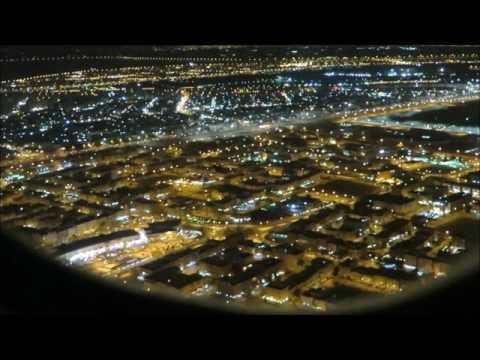 Kuwait from sky... Landing video. [HD]