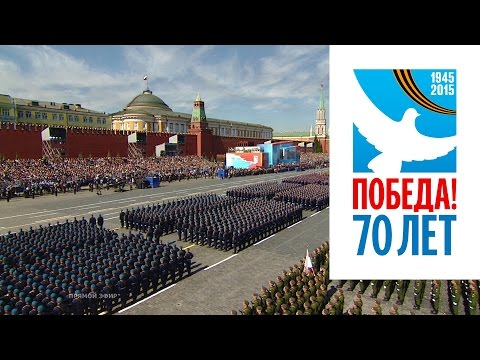 Victory Day Parade in Moscow 2015 (Red Alert 3 - Soviet March & Hell March 3) HD | Парад Победы 2015