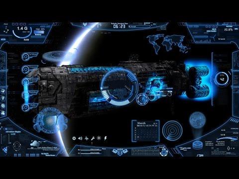 Alien Planet Windows 7 3d Wallpaper Part 2 Futuristic Skin Neon Space Hologram Cia Tutorial