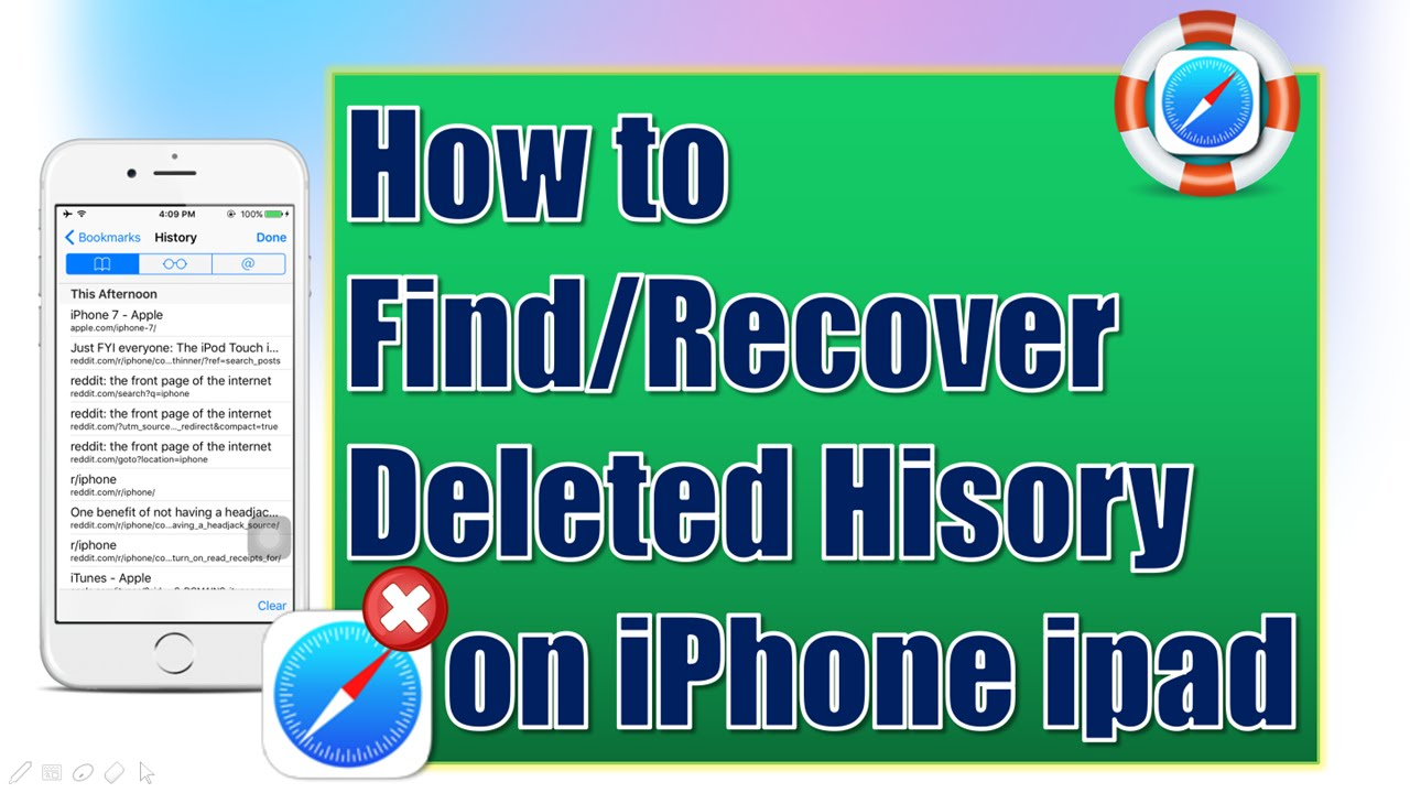 how to see deleted history on iphone how to find amp recover deleted history on iphone for 9453