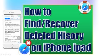 How to Find & Recover Deleted History on iPhone/iPad for Free