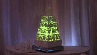 New Disney wedding cake features unique image mapping projection technology