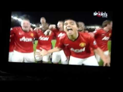 Manchester United Winning moments and players celebrating 20th title