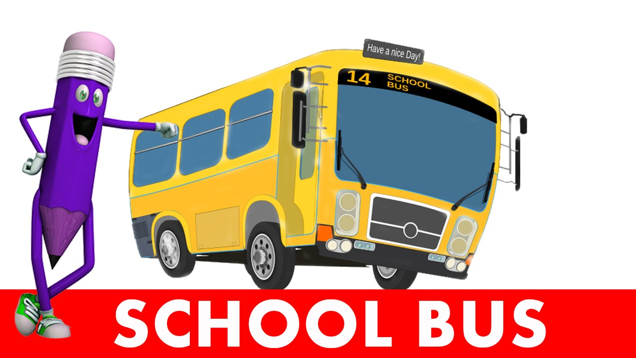 #Easy way to draw a #School bus for kids and toddlers ...