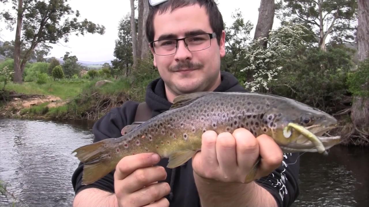 Trout fishing tyenna river tasmania get bit vlog youtube for Youtube trout fishing