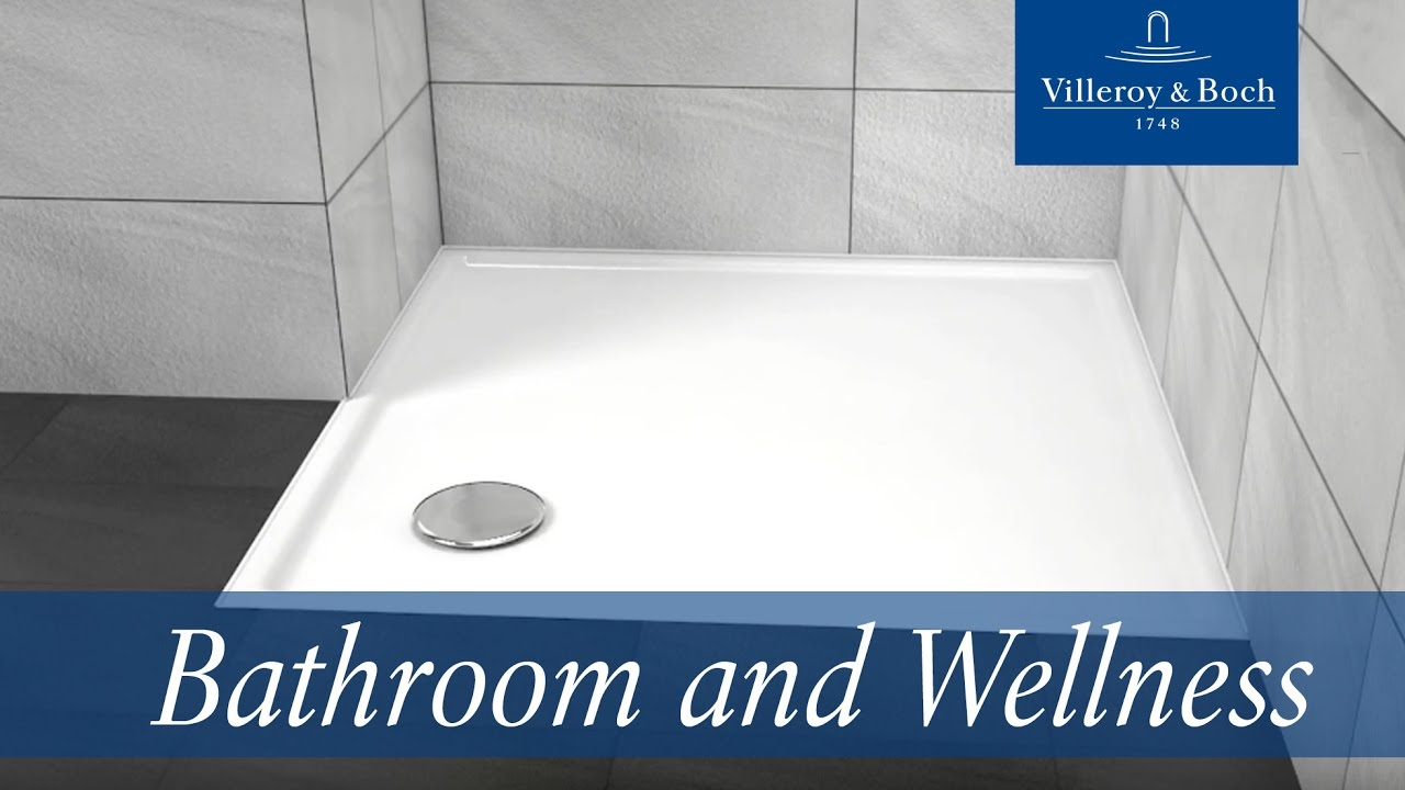 Shower tray installation with a steel frame | Villeroy & Boch - YouTube