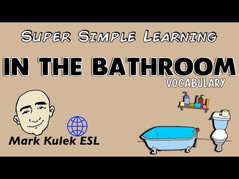 In The Bathroom | Basic Vocabulary Practice | ESL | EFL