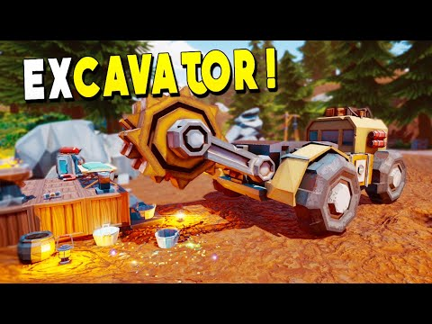 Excavator And Conveyors EXPLODE With Gold And Gems! - Hydroneer Gameplay - Early Access