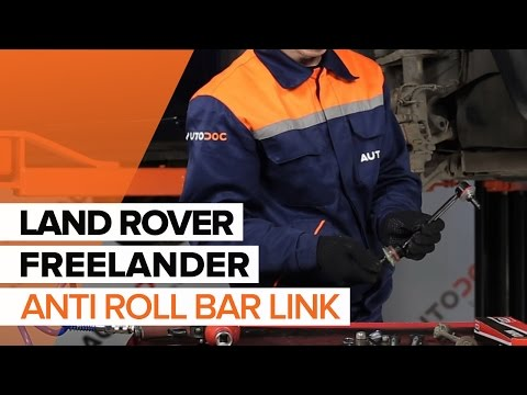 How to replace front anti roll bar link on LAND ROVER FREELANDER TUTORIAL | AUTODOC