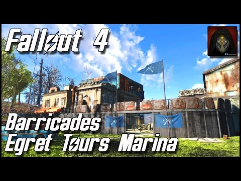 Fallout 4 - Egret Tours Marina Settlement - River Patrol Station: Barricades & Showers