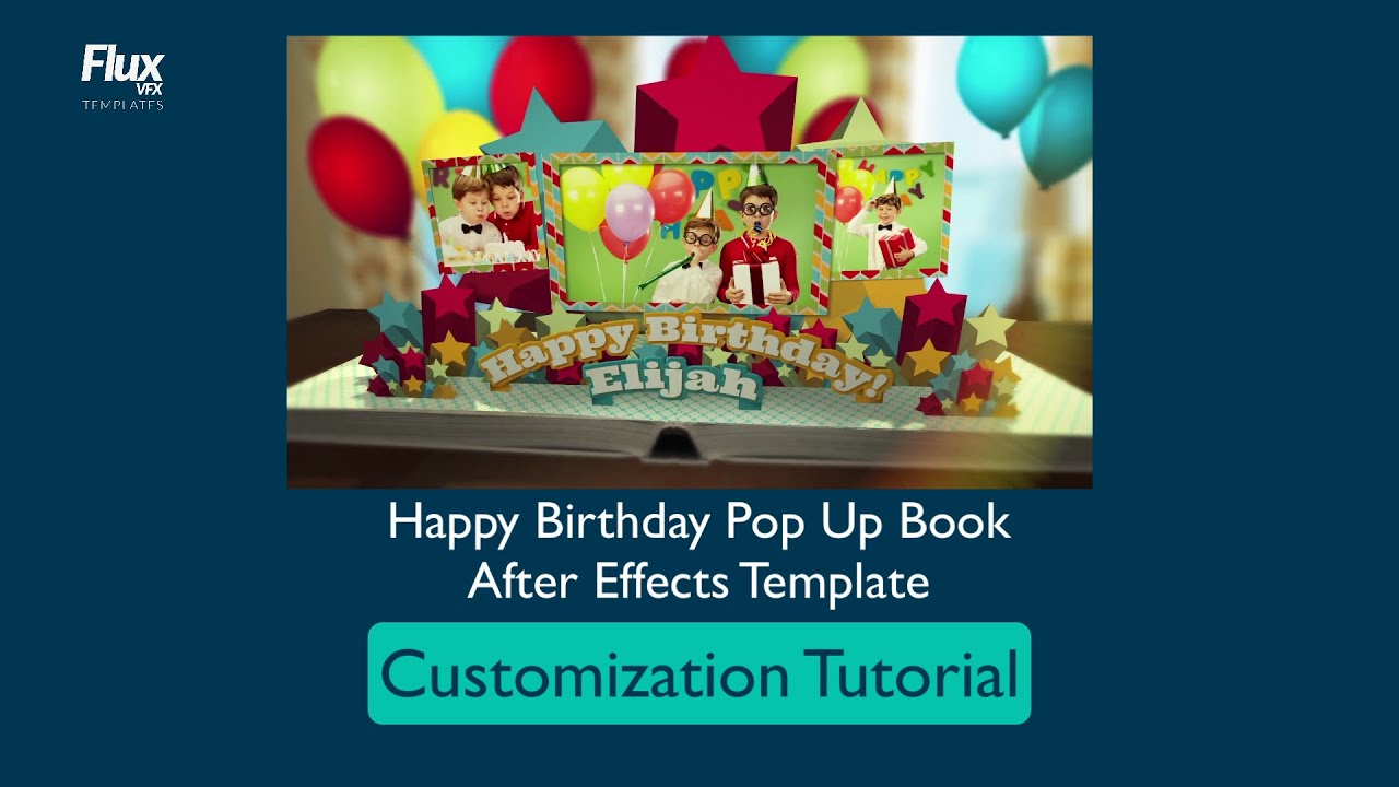 happy birthday pop up book template customization tutorial youtube