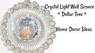 Dollar Tree Crystal Wall Sconce Home Decor Ideas #dollartreehomedecor #glamhomedecor #BlingIsMyThing