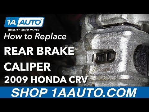 How to Replace Rear Brake Caliper 07-11 Honda CR-V