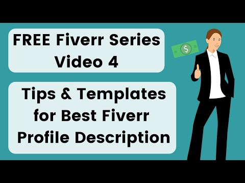 4. Fiverr Profile Description Templates & Examples 2020 - Tips To Write Fiverr Profile Description