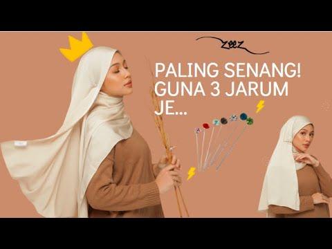 Zeez Hijab Tutorial ft Camilia Noh : Gaya Satin Shawl Paling Simple