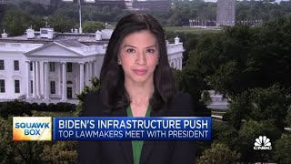 Biden to meet with congressional leadership on infrastructure proposal