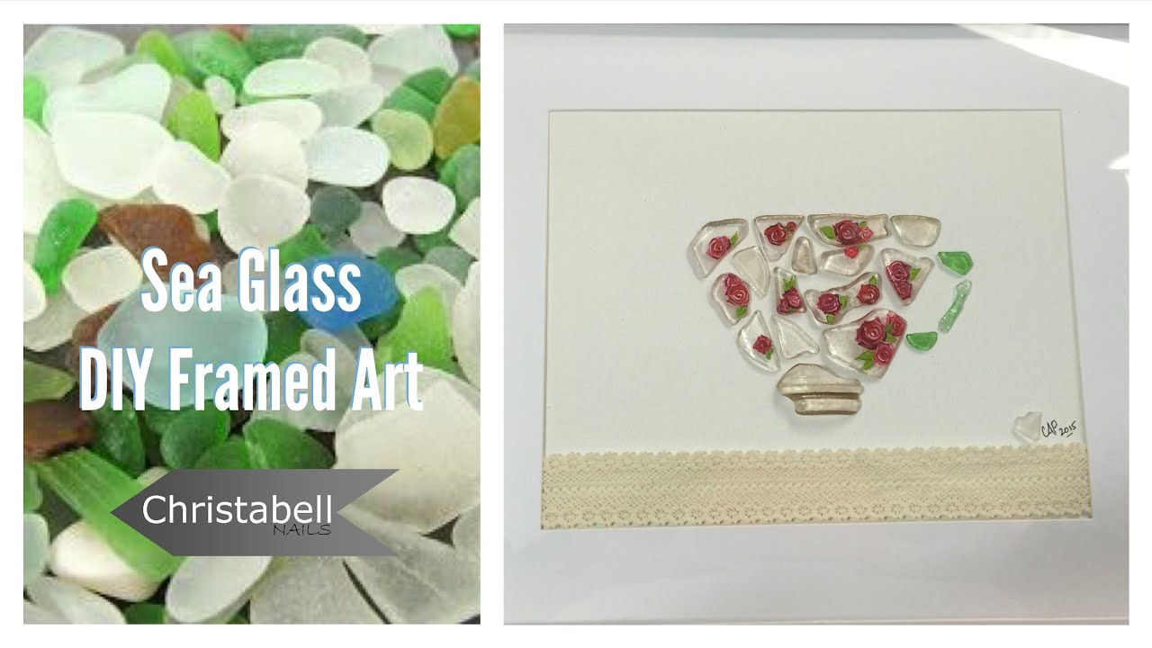 Beach Glass Framed Art - DIY Project - YouTube