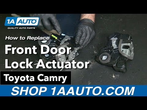 How to Replace Front Door Lock Actuator 06-11 Toyota Camry