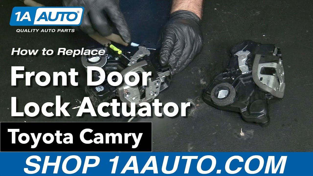 hight resolution of how to replace install front door lock actuator 09 toyota camry