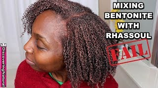 Mixing Bentonite and Rhassoul Clay on Natural Hair | MISTAKE