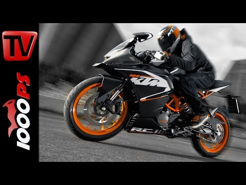 KTM RC 125 Stunts - Burnout, Wheelie & Stoppie