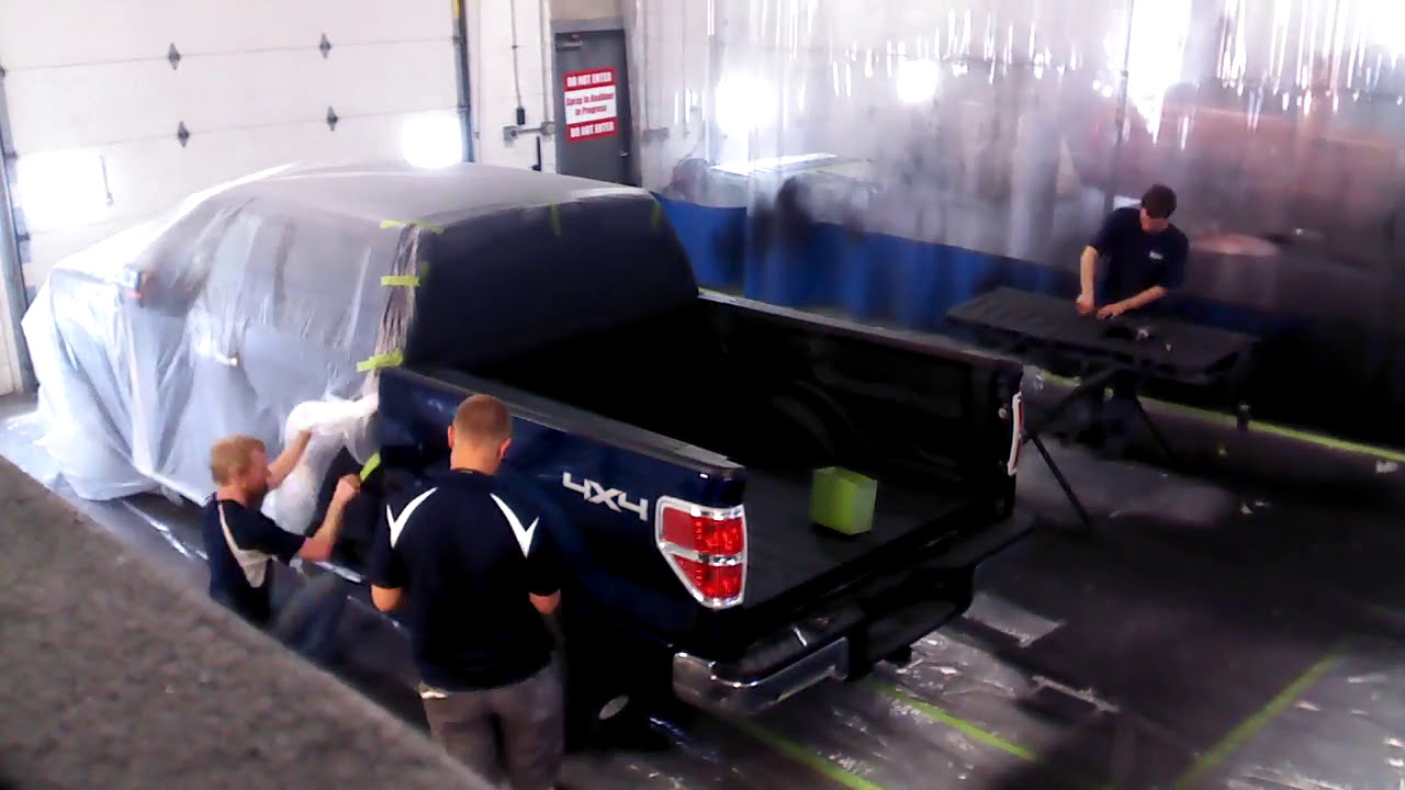 Without The Appearance Of Liner: Lenz Liner Spray-In Bedliner Install Time Lapse