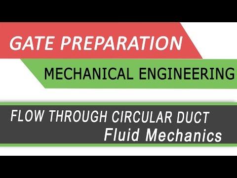 FLOW THROUGH CIRCULAR DUCT :Fluid Mechanics (Best Gate Preparation videos by NPTEL)