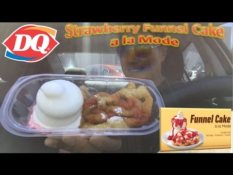 Dairy Queen Strawberry Funnel Cake a la Mode