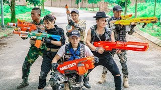 LTT Game Nerf War : Couple Warriors SEAL X Nerf Guns Fight Group Inhuman Invade Abandoned House